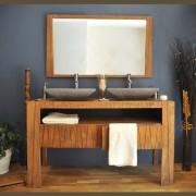 Saniteck Meuble salle de bain teck 140 borneo
