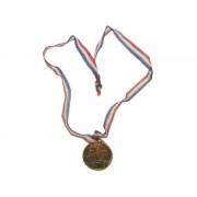 Merkloos 18x stuks goudkleurige speelgoed medailles
