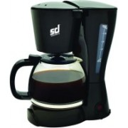 Smiledrive Drip Coffee Machine with Re-Usable Filter-Makes 8-10 cups filter coffee 1.2 ltr 10 Cups Coffee Maker(Black)