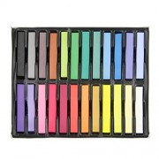 DIY Temporary Hair Chalk Non-Toxic Soft Rainbow Colored Dye Kit Hair Salon Pastel Set for All Hair Types-24 Color