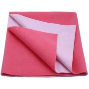 Glassiano Waterproof Baby Bed Protector Dry Sheet (140x100 CM) Large Size Dark Pink