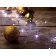 LED-Lichterdraht mit 20 LEDs, weiss, 100 cm, batteriebetrieben | Led Lichterkette
