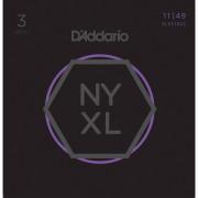 D'Addario NYXL1149-3P 11-49 Carbon Steel Alloy - 3-Pack
