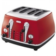 DeLonghi Icona Classic 4-slice toaster - Scarlet Red