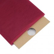 (Ship From USA) LA Linen Tulle Fabric Bolt, 54-Inch by 40-Yards, Burgundy / 100% Nylon Mesh. 40 Yard bolt. 54 Inch Wide.