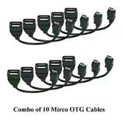Combo of 10 Micro OTG Cables for Mobile
