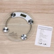 GADGET TREE Personal Bathroom Health Human Body Digital Weight Machine 8mm Round Transparent Glass Weighing Scale(White)