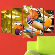 Декоративeн панел за стена с пъстроцветни плаващи птици Vivid Home