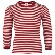 Engel - Kinder Shirt L/S - Sous-vêtement mérinos taille 128, rouge/beige
