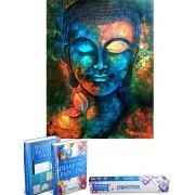 Crafterman™ Diamond Painting Pakket Volwassenen - Kleurrijke Boeddha - 30x40cm - volledige bedekking - vierkante steentjes - hobby pakket - Met tijdelijk 2 E-Books