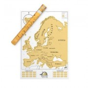 Luckies Scratch Map Europakarte