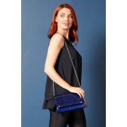 Roman Originals Sequin Foldover Metal Bar Clutch Bag