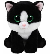 Jucarie plus 24 cm Beanie Babies AVA - black/white cat TY