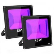 LED UV парти прожектор TOPLANET, Водоустойчив, 80W, осветява площ до 5-8 м²