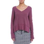 【60%OFF】イレギュラーヘム 長袖プルオーバー ワインベリー xs ファッション > レディースウエア~~その他トップス