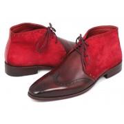 Paul Parkman Leather Chukka Boots Bordeaux Suede CK51-BRD