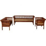 Solid Wood 3 + 2 + 1 Sofa Set