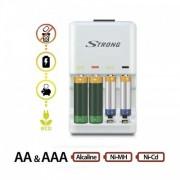 Incarcator pentru baterii alcaline si acumulatori STRONG Elixia