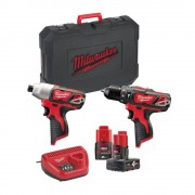 Milwaukee M12 Bpp2b-421c Milwaukee Kit Trapano E Avvitatore Powerpack M12 Professionale A Batteria 12 V