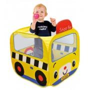 Iskolabusz játszósátor, színes labdákkal 73x73x80 cm KA10658-GB