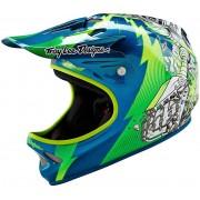 Lee Troy Lee Designs D2 Invade Green Blue XS S