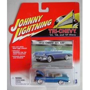 Johnny Lightning Blue 1956 Chevy Bel Air Convertible