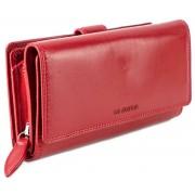 Nagy méretű bőr női piros pénztárca LA SCALA