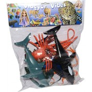 Vibgyor Vibes™ Ocean/Water/Marine Animals Figures Set for Kids(Multi Colour)