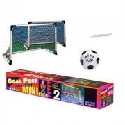 Sporttrader Voetbaldoeltjes - Voetbalgoaltjes Set - inclusief Bal - 92,5 x 63 cm - Wit