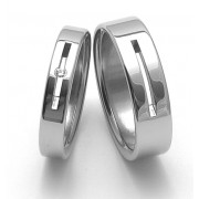 Snubní ocelové prsteny ZERO Collection rz04045+rz86010