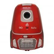 Aspirator cu sac Albatros Bella 90 Eco, 900 W, Sac textil 3 L, Filtru HEPA, Tub metalic telescopic, Rosu/Gri