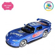 Smiles Creation Kinsmart 1:36 Scale Dodge Viper Pull Back Car Toy, Blue