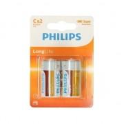 Philips Phillips LL batterijen pakket R14 1,5 volt 12 stuks
