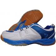 Proase Bg-03 Badminton Shoes(White, Blue)