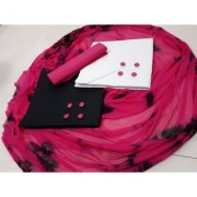 Pink color Combo Lakada cotton Dress material 2 top and Singal Bottom and Dupatta(ComboPink)