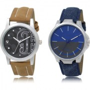 The Shopoholic Black Blue Grey Combo Fashionable Fancy Collection Black And Blue And Grey Dial Analog Watch For Boys Stylish Watches For Men