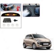 Auto Addict Car White Reverse Parking Sensor With LED Display For Hyundai Santro New 2018