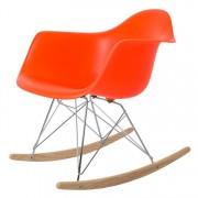 Charles Eames schommelstoel RAR PP neon oranje