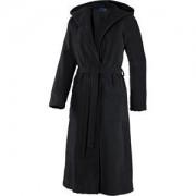 JOOP! Albornoces Mujer Albornoz con capucha negro Talla 44/46, largo 120 cm 1 Stk.