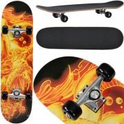 [pro.tec]® Monopatín Skateboard para el cruising en la ciudad y el parque - 79 x 20,5 x 13,5 cm - Retro Board (Dragon con fuego)