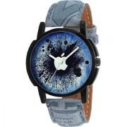 HRV New Designer APPLE Print Dial Blue Leather Belt Men Women Watch - For Boys