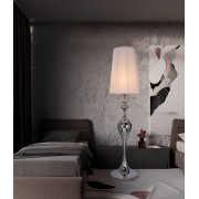 Stojaca lampa LUCIA 160 cm - strieborná