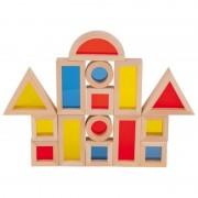 Set cuburi de construit cu ferestre, 16 piese, 3 ani+