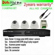 Ditsvision 3 HD CCTV camera set 1.3 mega pixel