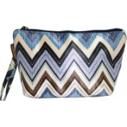 Everyday Desire Multipurpose Cosmetic Makeup Pouch For Women - Zigzag Travel Toiletry Kit(Multicolor)