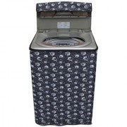 Dream CareFloral Grey coloured Waterproof & Dustproof Washing Machine Cover For Haier HWM60-10 Fully Automatic Top Load 6 kg washing machine