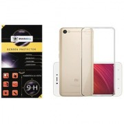BrainBell REDMI Y1 LITE PREMIUM COMBO PACK OF TEMPERED GLASS SCREEN GUARD AND TRANSPARENT CASE