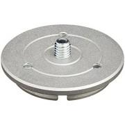 Manfrotto 400PL-LOW Accesorio para trípode (Gris, 5.98 cm, 1.3 cm, 110 g, Aluminio)