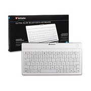 Verbatim 97754 Keyboard - Wireless Connectivity - Bluetooth - White