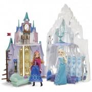 Mattel disney frozen y9968 - castello e palazzo di ghiaccio